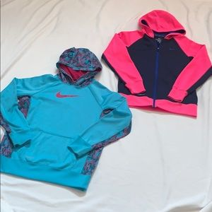 Girl's Nike Thermafit sweatshirts XL bundle of 2